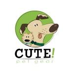 pet logo design for Cute! Pet Gear custom dog collar manufacturer