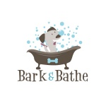 pet grooming logo design for Bark & Bathe