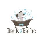 pet grooming logo design for Bark & Bathe