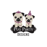 pet business logo design for Pug Party Designs