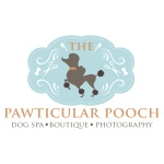 pet boutique and dog spa logo design for The Pawticular Pooch