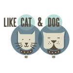pet store logo design for Like Cat & Dog - UK