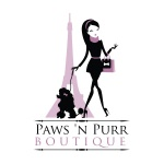 pet store logo design for Paws 'n Purr Pet Boutique