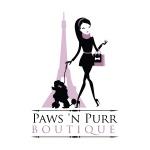 pet store logo design for Paws 'n Purr Pet Boutique