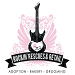 pet store logo design for Rockin' Rescues & Retail