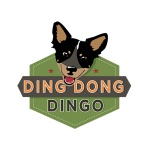 dog training logo design for Ding Dong Dingo