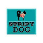 pet business logo design stripy dog pet boutique