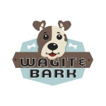 pet business logo design for upscale dog boutique Wagit & Bark - UK